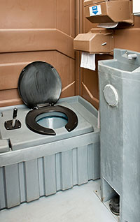 Clean Modern Portable Toilet