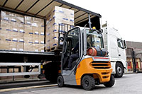 Forklift rental for shipping