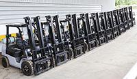Forklift fleets for rent